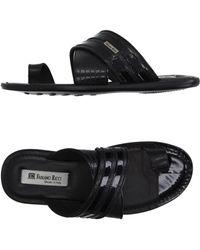 Fabiano Ricci Thong Sandal - Black