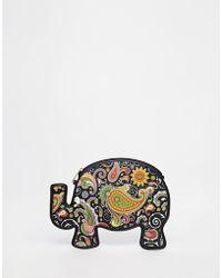 Daisy Street - Elephant Paisley Clutch Bag - Lyst