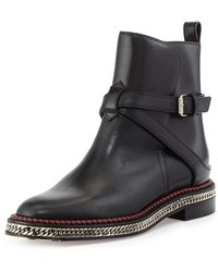 Christian Louboutin Chain-midsole Red Sole Ankle Boot - Lyst