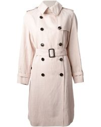 Burberry London Double-Breasted Belted Trench Coat - Lyst