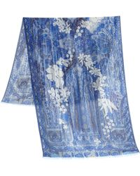 Etro Floral Paisley Scarf - Lyst