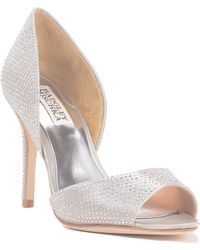 Badgley Mischka Mitzi Peep Toe D'Orsay Evening Shoe - Lyst
