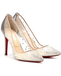 Christian Louboutin Body Strass 100 Crystalembellished Mesh Pumps silver - Lyst
