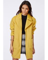 Missguided Lena Cocoon Sleeve Coat  - Lyst