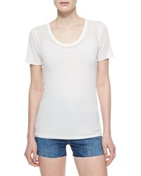 Alexa Chung For AG The Perfect Ribbed Tee - Lyst