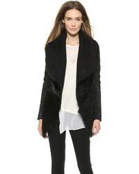 Donna Karan New York Slim Jacket with Suede Inserts Black - Lyst