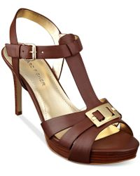 Marc Fisher Varika Mid-Heel Platform Sandals - Lyst