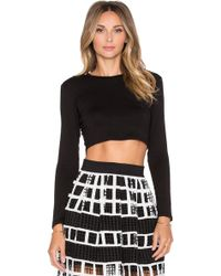 Alexis Aviana Jersey Cropped Top - Lyst