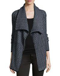 Joie - Jamilee B Printed Wool-blend Cardigan - Lyst