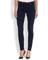 7 For All Mankind Deluxe Skinny Jeans - Lyst