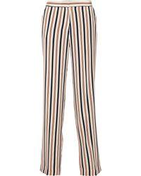 By Malene Birger Vanamala Striped Silk Wide-Leg Pants - Lyst
