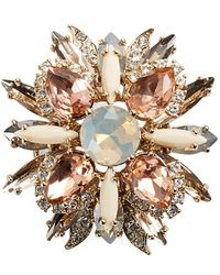 Marchesa Jewelled Cluster Brooch - Pink