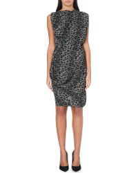 Vivienne Westwood Anglomania Fond Leopard Print Crepe Dress - Lyst