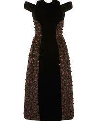 Holly Fulton - Off The Shoulder Alison Velvet Dress - Lyst