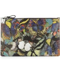Valentino Butterfly Napacanvas Flat Pouch - Lyst