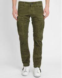 G-Star RAW | Khaki Rovic Slim-fit Cargo Trousers | Lyst