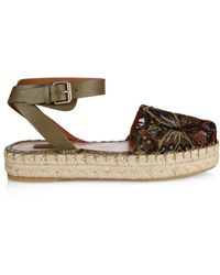 Valentino | Camubutterfly-Embroidered Espadrilles | Lyst