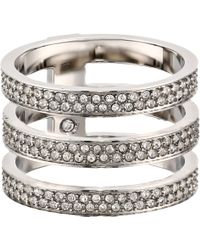 Michael Kors Collection Tri Stack Open Pave Bar - Lyst