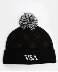 Cayler & Sons Cayler And Sons Budz And Stripes Bobble Hat - Black