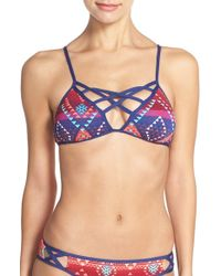 The Bikini Lab - 'girls Wanna Sun' Cross Neck Bikini Top - Lyst