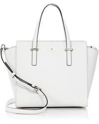 Kate Spade Cedar Street Saffiano Leather Satchel white - Lyst