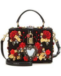 Dolce & Gabbana Embellished Box Clutch - Lyst