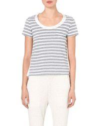 Sacai Striped Contrast-back T-shirt - Lyst