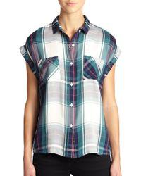 Rails Britt Short-Sleeve Plaid Button-Down Shirt - Lyst