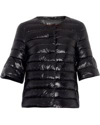 Herno Lightweight Quilted Down Cropped Jacket - Lyst