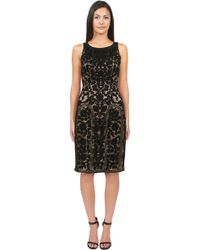 Sue Wong High Neck Embroidered Dress - Lyst