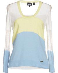 Just Cavalli Blue Sweater - Lyst