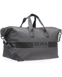 9fd9cf824c BOSS Green - Weekender With Logo Lettering: 'pixel_holdall' - Lyst