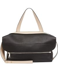 Chloé Dalston Leather Shoulder Bag Blackbeige - Lyst