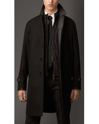 Burberry Cotton Gabardine Car Coat with Detachable Gilet - Lyst