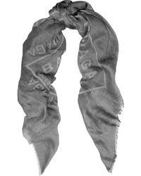 Balenciaga Printed Cotton Scarf - Lyst