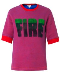 Kenzo Fire Slogan Sweatshirt - Lyst