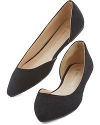 Legend Footwear Inc Easy Edge Flat In Black - Lyst