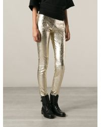 P.A.R.O.S.H. Skinny Trousers - Lyst