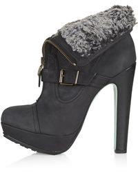Topshop Womens Midnight Hour Boots by Cjg - Black - Lyst