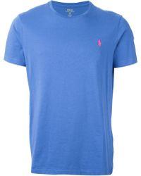 Polo Ralph Lauren Embroidered Logo T-Shirt - Lyst