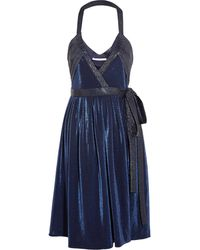 Diane Von Furstenberg Natanya Metallic Jersey Wrap Dress - Lyst
