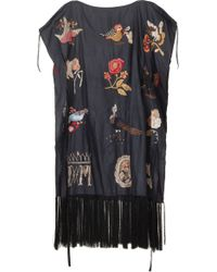 Isabel Marant Iroma Print Silk Top with Tassle Detail - Lyst