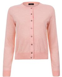Paul smith Peach Cashmere Cardigan With Contrasting Side Seams in ...