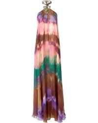 Emilio Pucci Hardware Neck Tie-Dye Dress - Lyst