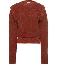 Sonia Rykiel Lipstick Biker Tweed Sweater - Lyst