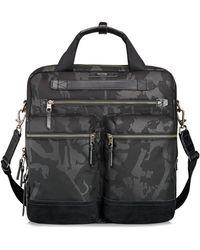 Tumi Black And Beige Ashwin Small Laptop Bag - Lyst