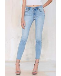 Nasty Gal Neuw Amorous Tapered Jean - Faded - Lyst