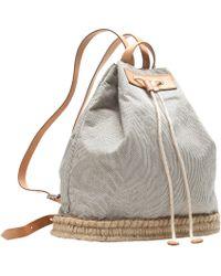 J.Crew Pre-Order Skinny Stripe Drawstring Backpack - Lyst