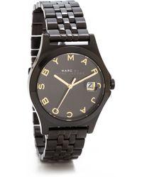 Marc By Marc Jacobs The Slim 30Mm Watch - Black/Black - Lyst