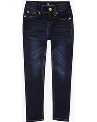 "7 For All Mankind - Girls 4-6x ""the Skinny"" 5-pocket Stretch Denim Jeans In Tried & True - Lyst"